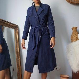 SHEIN Jackets & Coats - SheIn Navy Blue Trench Coat Lightweight Jacket XS